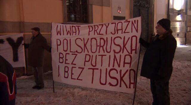Demonstranci skandowali hasła