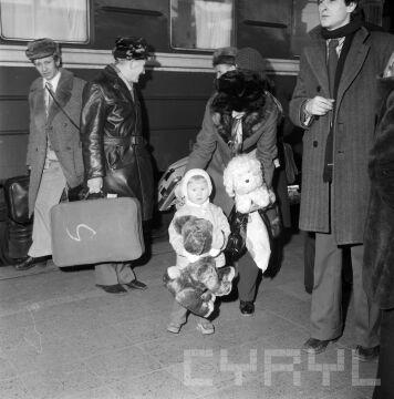Pasażerowie Pociągu Przyjaźni Polsko-Radzieckiej w lutym 1975 r.