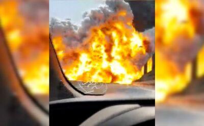 Autostrada w ogniu. Nie żyje kierowca cysterny, wielu rannych
