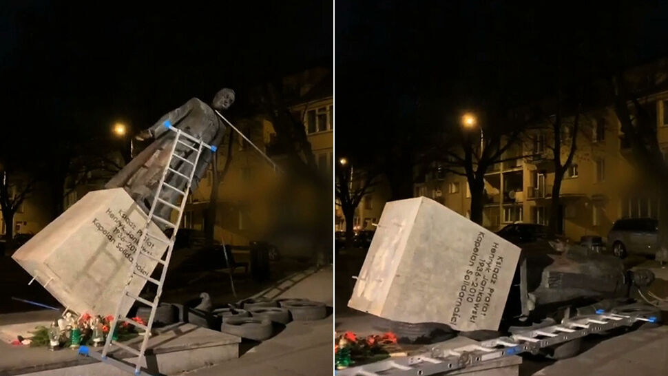 """""""Solidarność"""" w sprawie pomnika księdza Jankowskiego. """"To nikczemna dewastacja"""""""