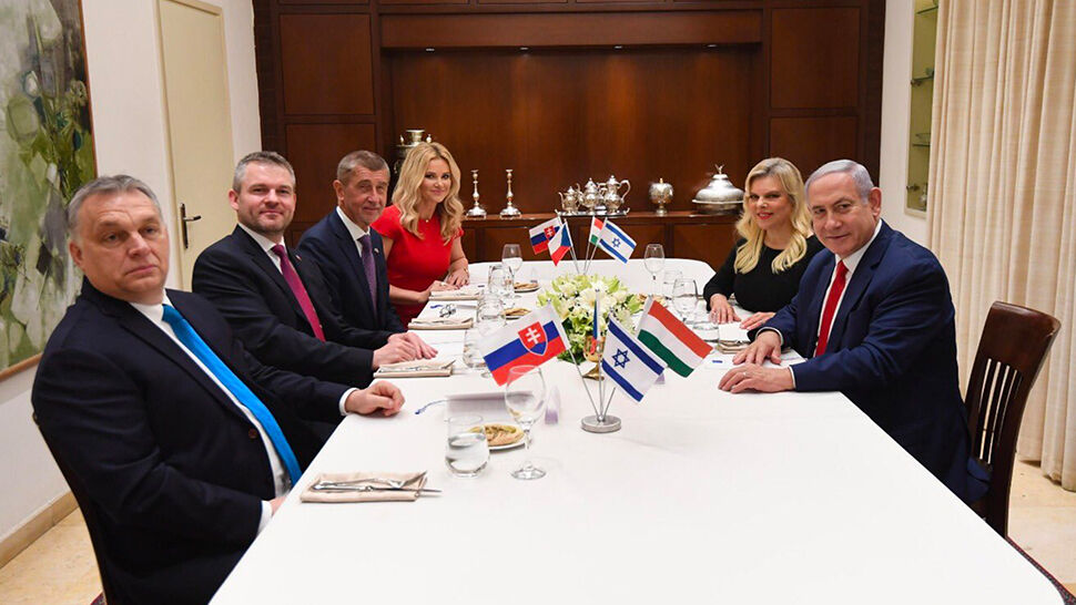 """""""Witamy w Izraelu"""". Wspólne spotkanie premierów Izraela, Węgier, Czech i Słowacji"""