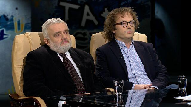 prof. Tadeusz Bartoś i  Tomasz Wiścicki  w Tak Jest