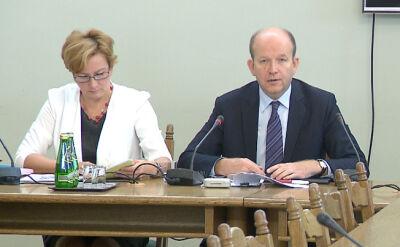 Konstanty Radziwiłł na senackiej komisji zdrowia