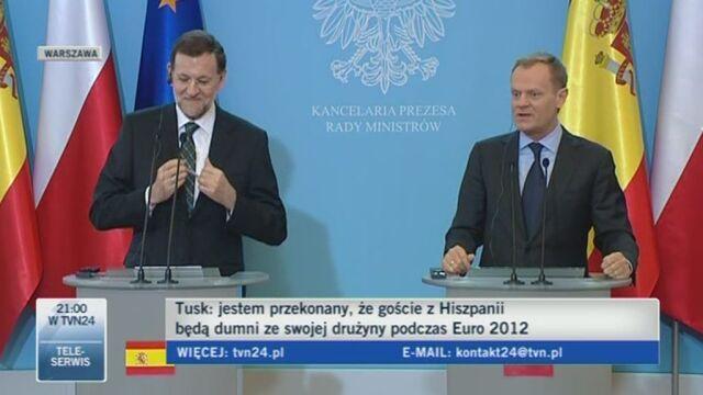 Szefowie polskich i hiszpańskich rządów o finale Euro 2012 (TVN24)