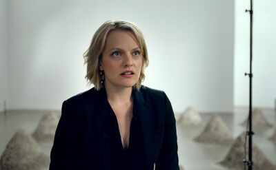 "Elisabeth Moss i Claes Bang w ""The Square"" Rubena Östlunda"