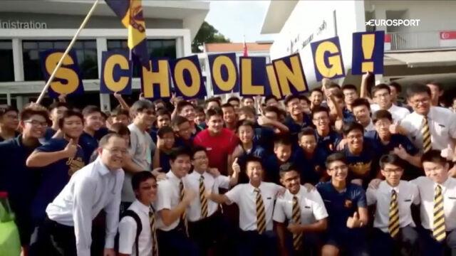Królewskie przywitanie Schoolinga w Singapurze po zdobyciu złotego medalu igrzysk olimpijskich