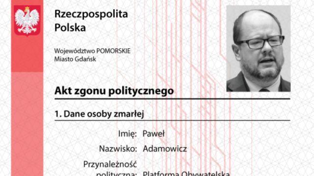 """Młodzież Wszechpolska wystawiła samorządowcom """"polityczne akty zgonu"""". Prokuratura wszczyna śledztwo"""