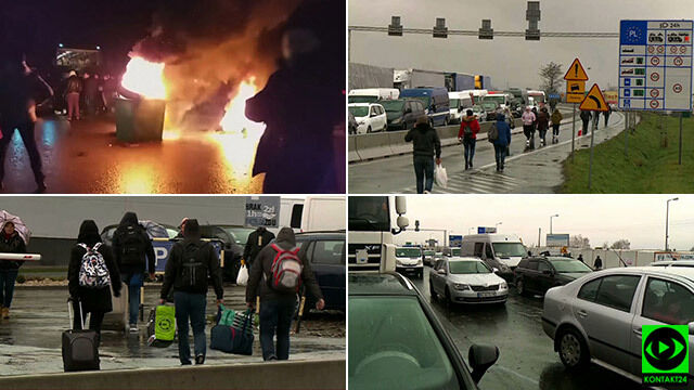 Dziesiątki tirów czekają na przekroczenie granicy. Blokady na przejściach z Ukrainą