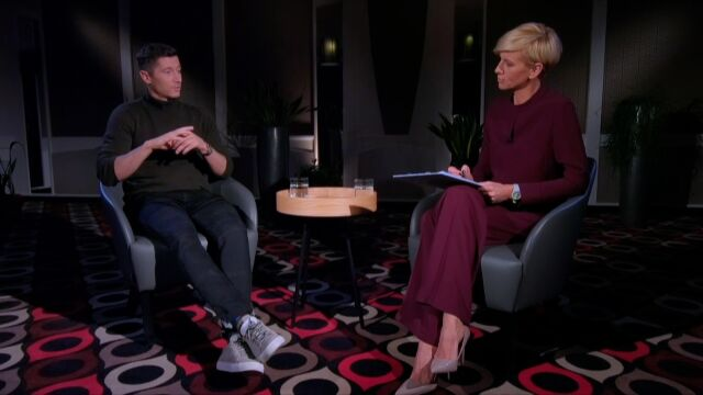 Bayern Munich's Robert Lewandowski in an exclusive interview for TVN24