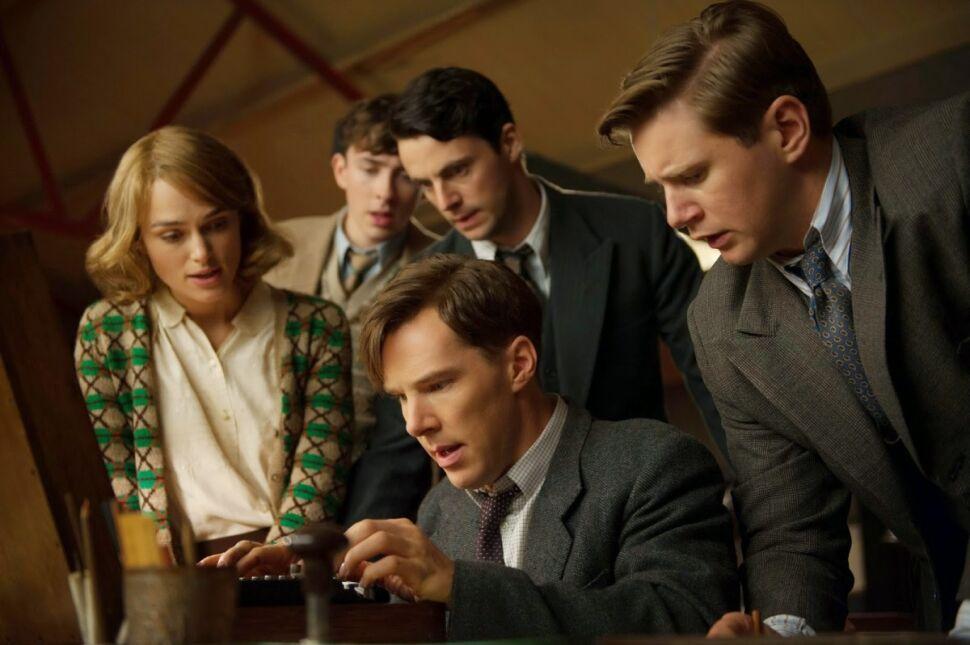 Keira Knightley, Matthew Beard, Matthew Goode, Benedict Cumberbatch i Allen Leech