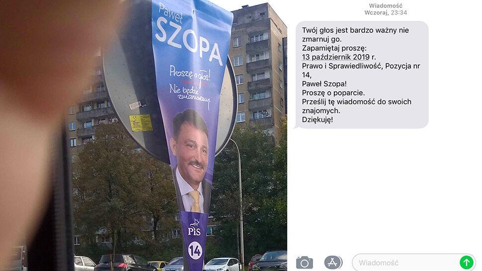 Kampania wyborcza Pawła Szopy z PiS