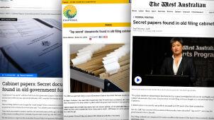 Ściśle tajne rządowe dokumenty sprzedane w starych meblach