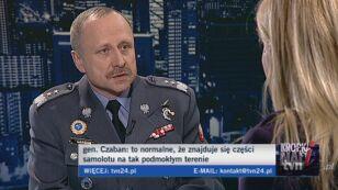 Gen. Czaban o znalezionych rzeczach na miejscu katastrofy/TVN24