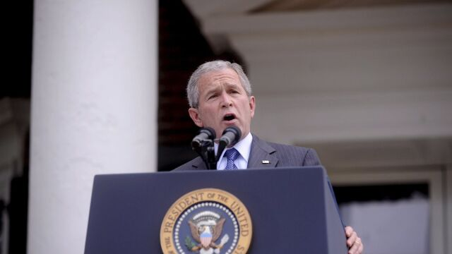Znów gafa Busha