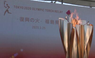 Sztafeta olimpijska zawieszona, ogień olimpijski pozostał w Fukushimie