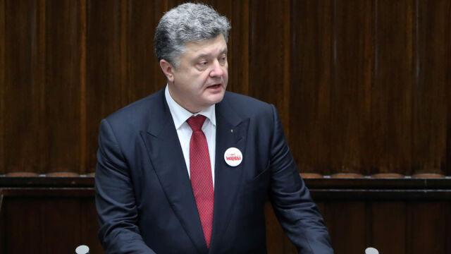 Poroszenko w Sejmie: wybaczamy  i prosimy o wybaczenie