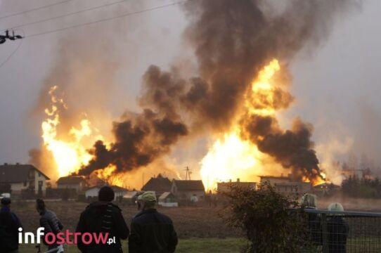 Do wybuchu gazu z budowanej magistrali doszło w miejscowości Janków Przygodzki