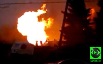 Ogromny pożar po wybuchu gazu