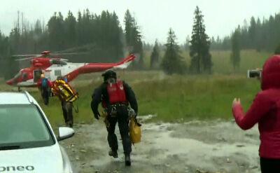 TOPR: kilka ofiar śmiertelnych, kilkanaście osób rannych w wyniku burz, które przeszły nad Tatrami