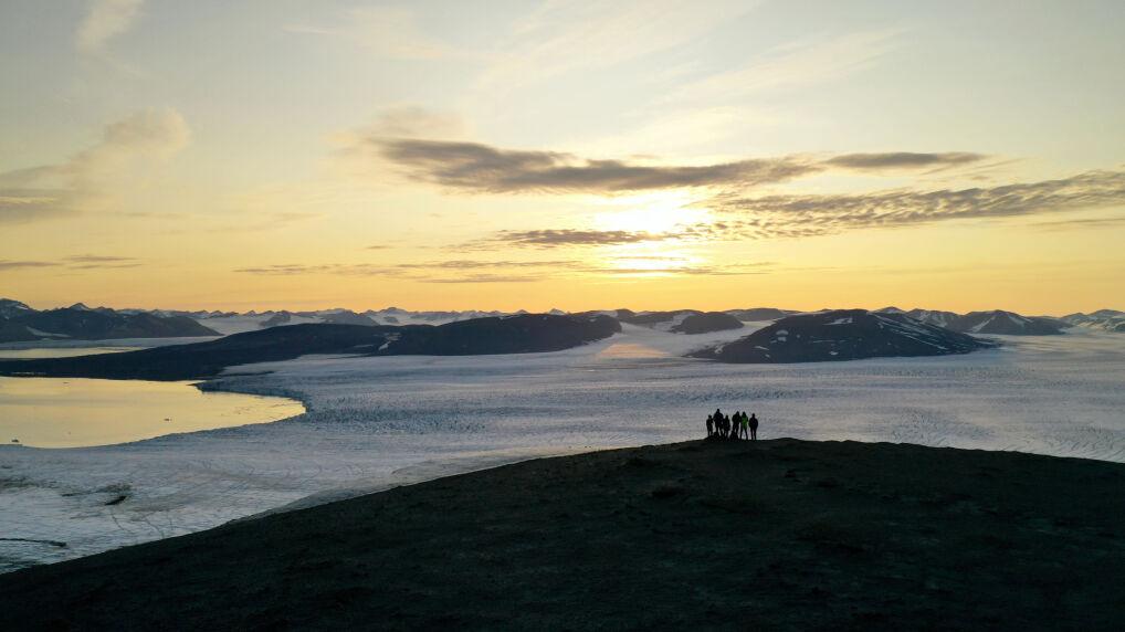 Lodowiec Horn (południowy Spitsbergen). Za ok. 20 lat otworzy się tutaj cieśnina do Morza Barentsa