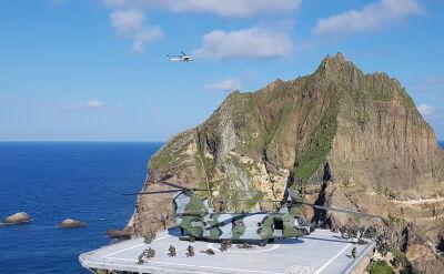 Manewry południowokoreańskiej armii na spornym archipelagu