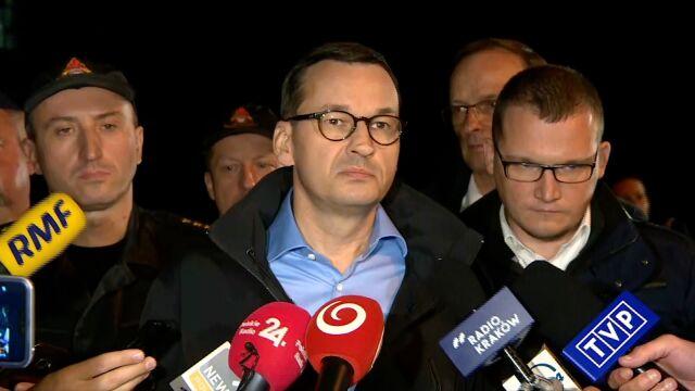 Premier Mateusz Morawiecki o tragedii w Tatrach