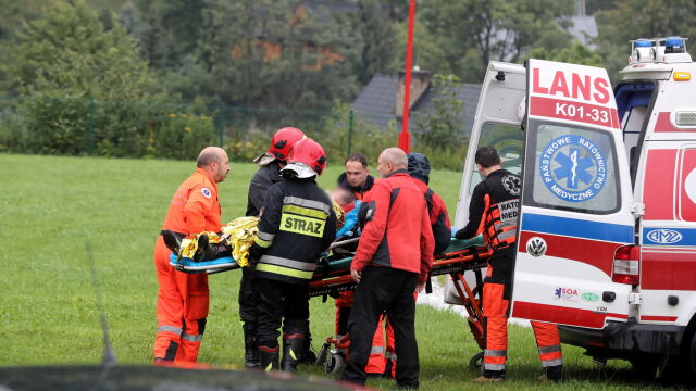 Rescue mission in the Tatra Mountains. Heavy thunderstorm left several dead and dozen injured