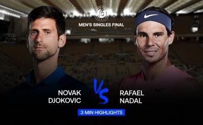 Skrót meczu Djoković - Nadal w finale Roland Garros 2020