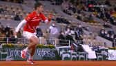 Niesamowita wymiana już na początku meczu Djoković - Nadal w finale Roland Garros