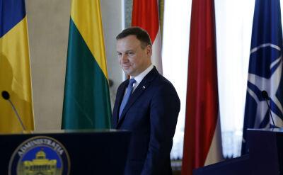 Prezydent Duda po zakończeniu obrad państw NATO w Rumunii