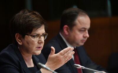 Beata Szydło na konferencji po szczycie w Brukseli