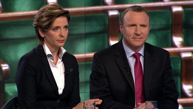 "Joanna Mucha i Jacek Kurski w ""Faktach po Faktach"""