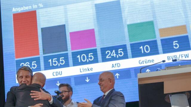 Socjaliści wygrywają w Brandenburgii, chadecy w Saksonii. AfD coraz silniejsza
