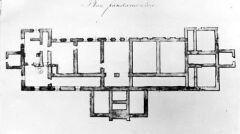 Plan fundamentów Szpitala Wszystkich Świętych w Wieluniu
