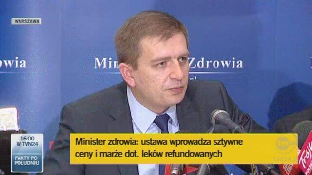 Minister Arłukowicz o lekach dla chorych na astmę (TVN24)