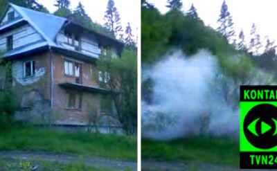 Na oczach ludzi runął dom