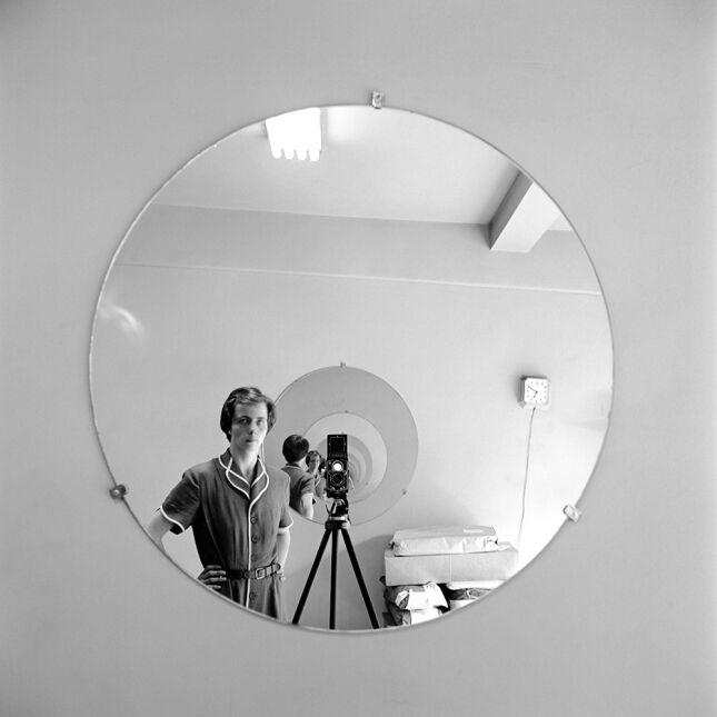 """Self-Portrait Round Mirror Repeating"""
