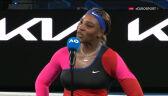 Serena Williams po awansie do półfinału Australian Open