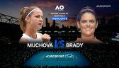 Skrót meczu Muchova - Brady w półfinale Australian Open