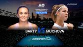 Skrót meczu Barty - Muchova w ćwierćfinale Australian Open