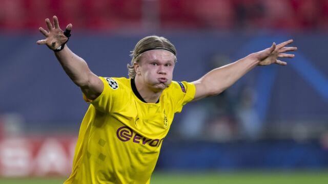 Dublet i rekord Haalanda. Borussia w dobrej sytuacji przed rewanżem