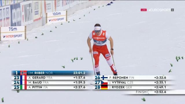 Kupczak 29. w kombinacji norweskiej po biegu na 10 km