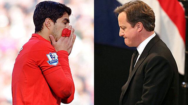 """Premier W. Brytanii żąda przykładnej kary dla """"gryzonia"""" z Liverpoolu"""