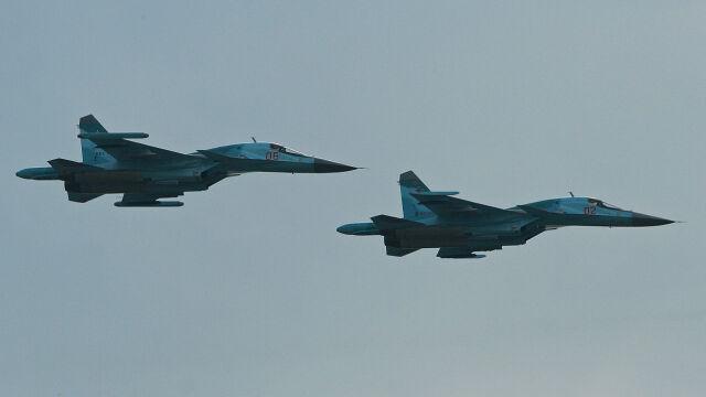 Dwa rosyjskie Su-34 zderzyły się w powietrzu. Jedna z maszyn spadła do morza