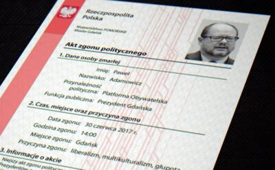 """""""Akt politycznego zgonu"""" Pawła Adamowicza"""