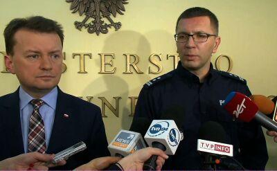 Szef policji o zatrzymaniu Kajetana P.