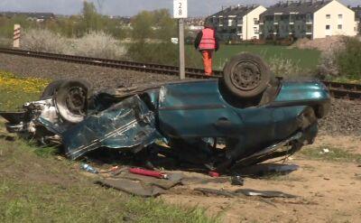 Wypadek na przejeździe kolejowym w zachodniopomorskiem