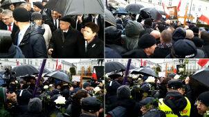 Manifestacje i kontrmanifestacje. 80. miesięcznica smoleńska
