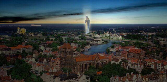 Tak miał wyglądać gdański wieżowiec Libeskinda