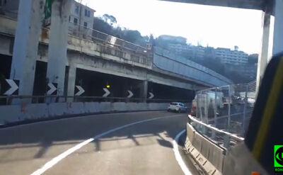 Tak wyglądał most w Genui pół rok temu. Nagranie Reportera 24